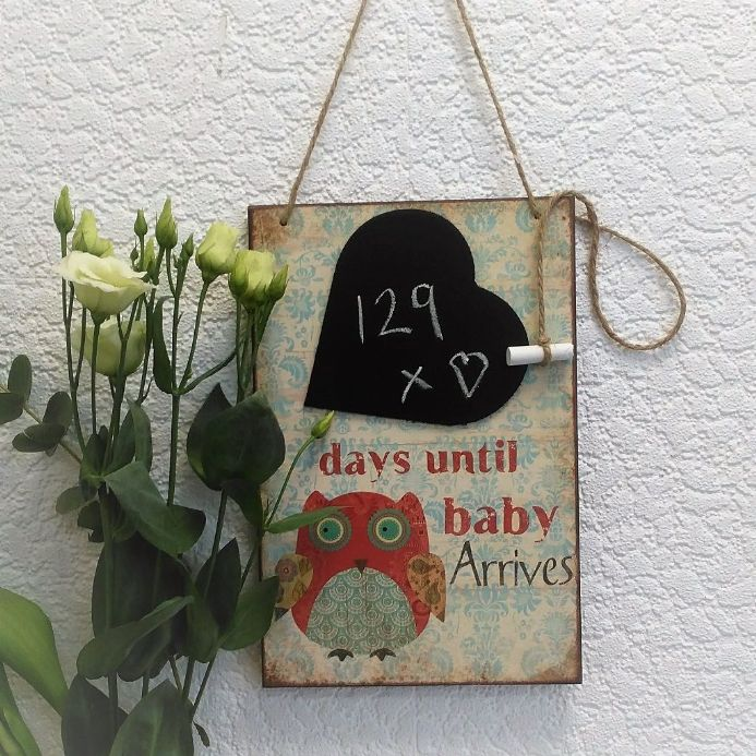 Days Until Baby Arrives Chalkboard
